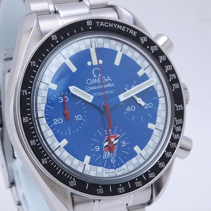 http://オメガ%20OMEGA%20メンズ腕時計%20スピードマスター%203510-80%20SS(ステンレス)%20ブルー文字盤%20中古