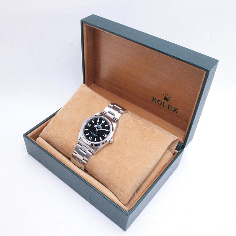 http://ロレックス%20ROLEX%20メンズ腕時計%20エクスプローラー1%2014270%20SS(ステンレス)%20ブラック文字盤%20中古