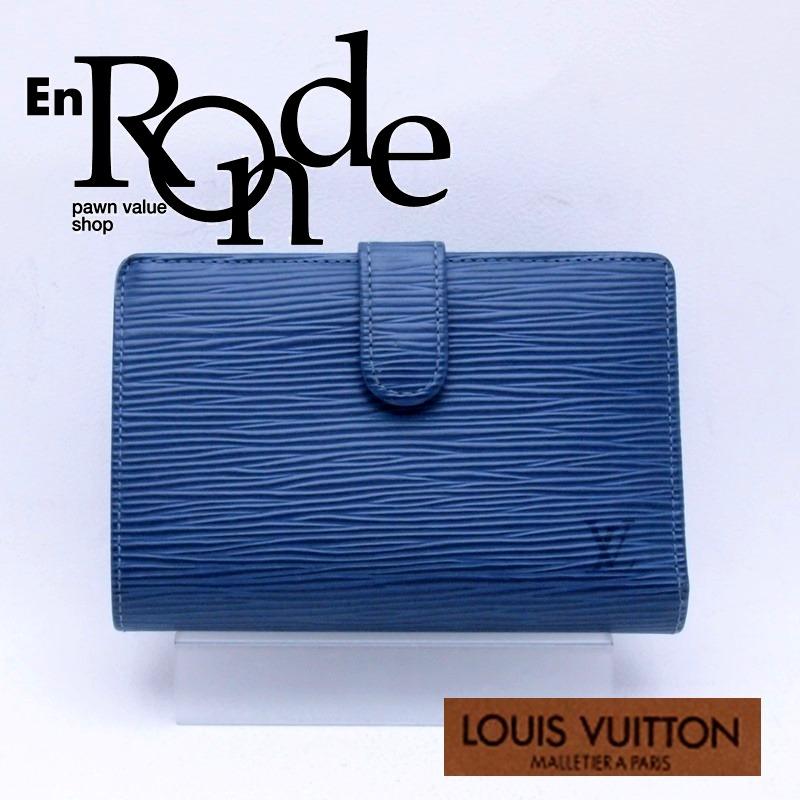 ルイ・ヴィトン LOUISVUITTON エピ 二つ折財布 ポルトフォイユ ヴィエノワ  エピ M6324G レザー ブルー 中古