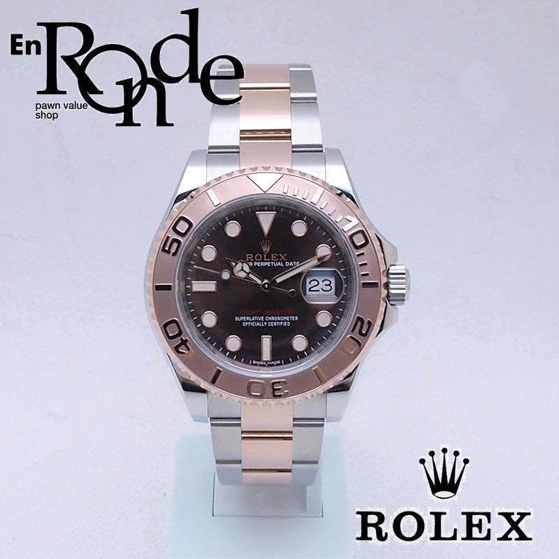 ロレックス ROLEX メンズ腕時計 ヨットマスター 116621 SS/PG ブラウン文字盤 中古