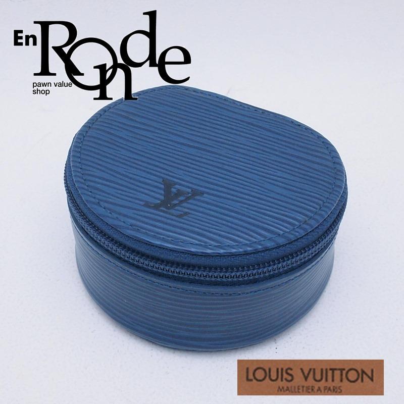 ルイ・ヴィトン LOUISVUITTON エピ 小銭入れ エクランビジュー エピ M48215 レザー ブルー 中古