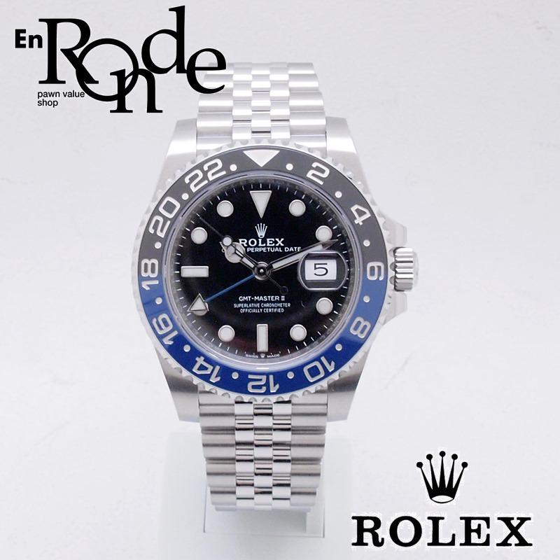 ロレックス ROLEX メンズ腕時計 GMTマスターII ジュビリーブレスレット 126710BLNR SS ブラック文字盤 新品同様