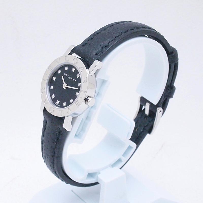 http://ブルガリ%20BVLGARI%20レディース腕時計%20ブルガリブルガリ%20BB23SL%20SS(ステンレス)/革 12PD%20ブラック文字盤%20中古