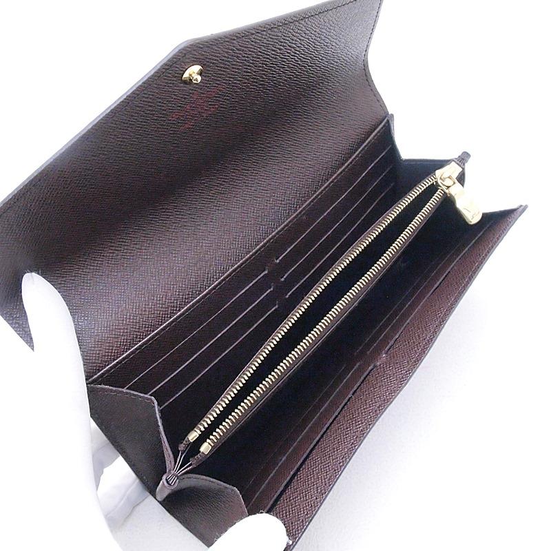ルイ・ヴィトン LOUISVUITTON ダミエ 長財布 ポルトフォイユ・サラ N63209 コーティングキャンバス ダミエ 中古