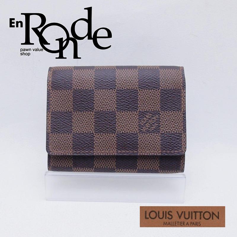 ルイ・ヴィトン LOUISVUITTON ダミエ 財布 カードケース(マチあり) N62920 コーティングキャンバス ダミエ 中古