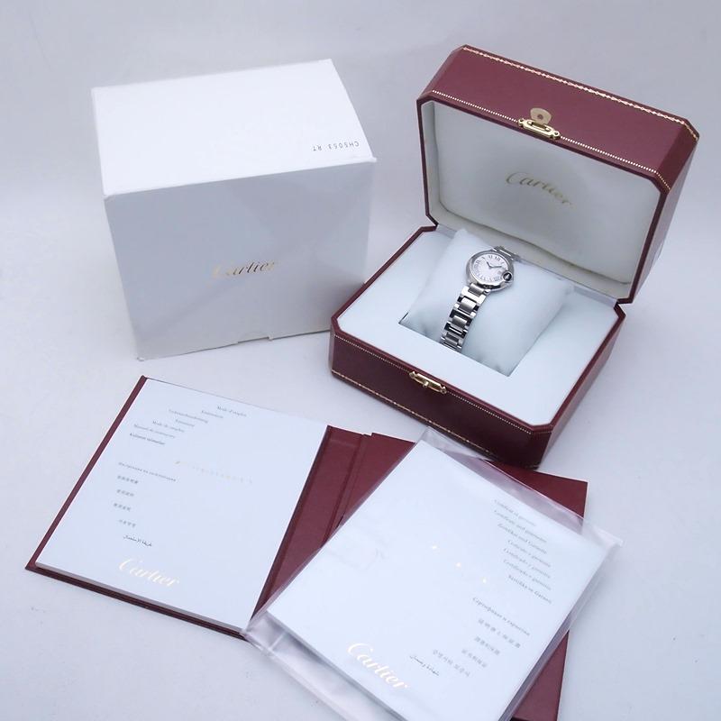 http://カルティエ%20Cartier%20レディース腕時計%20バロンブルーSM%20W69010Z4%20SS(ステンレス)%20シルバー文字盤%20中古