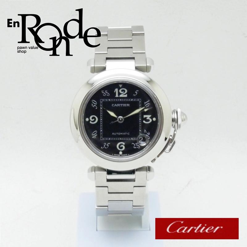 カルティエ Cartier メンズ腕時計 パシャC SS(ステンレス) ブラック文字盤 中古