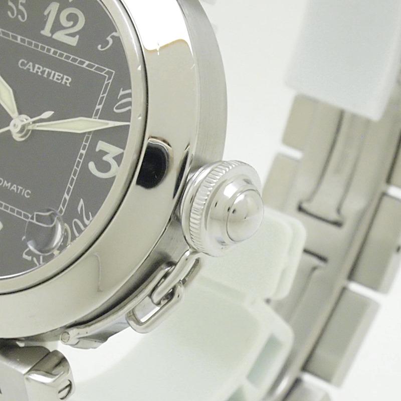 http://カルティエ%20Cartier%20メンズ腕時計%20パシャC%20SS(ステンレス)%20ブラック文字盤%20中古