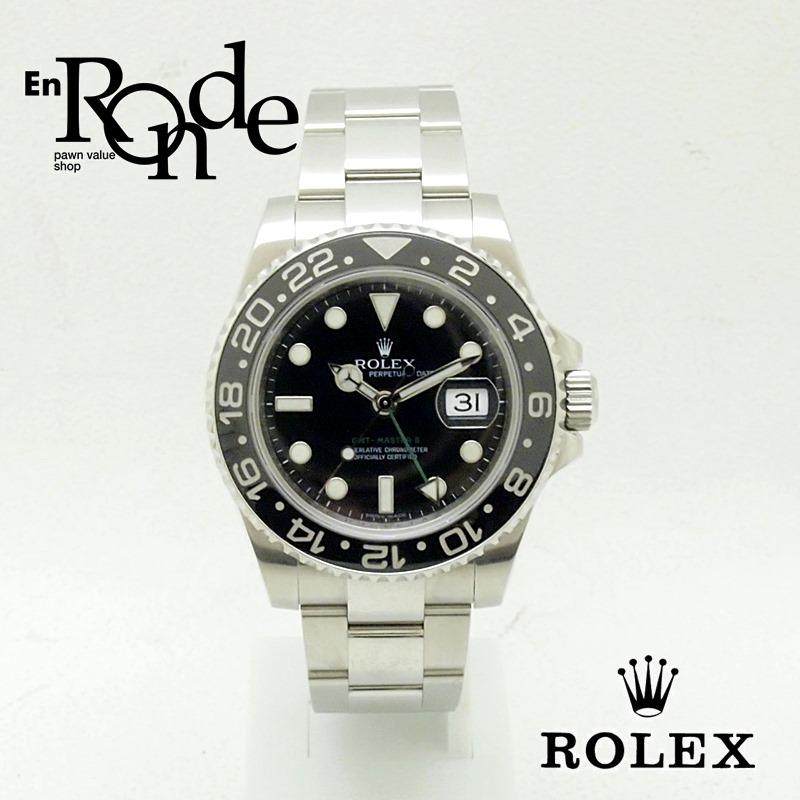 ロレックス ROLEX メンズ時計 GMTマスターII 116710LN SS(ステンレス) ブラック文字盤 中古