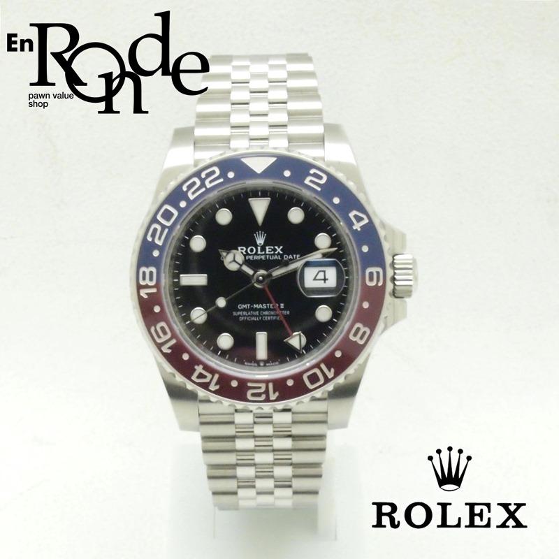 ロレックス ROLEX メンズ腕時計 GMTマスターII 126710BLRO SS(ステンレス) ブラック文字盤 中古