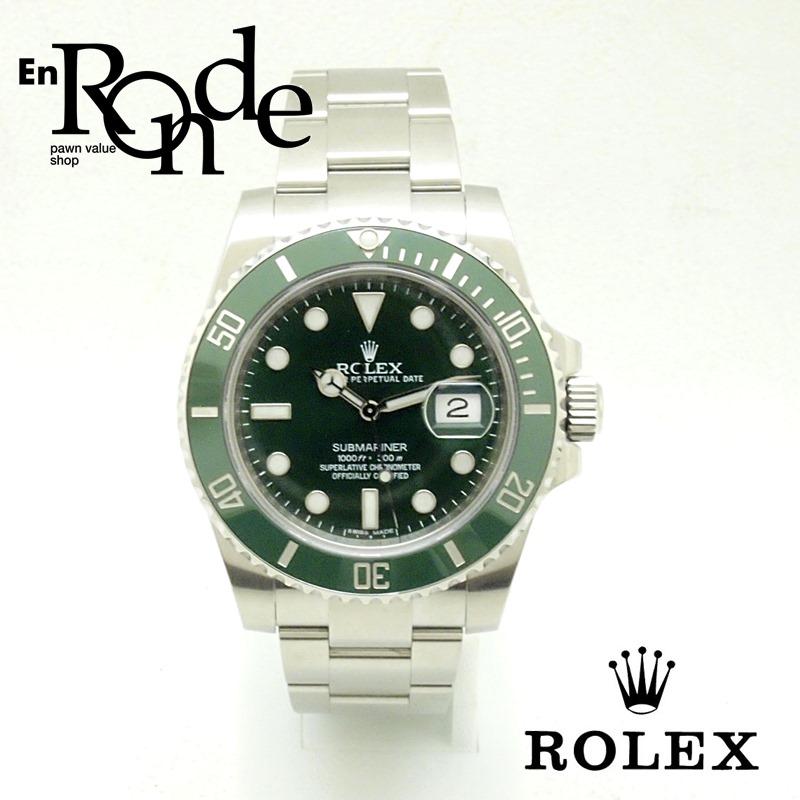 ロレックス ROLEX メンズ腕時計 サブナリーナ 116610LV SS(ステンレス) グリーン文字盤 中古