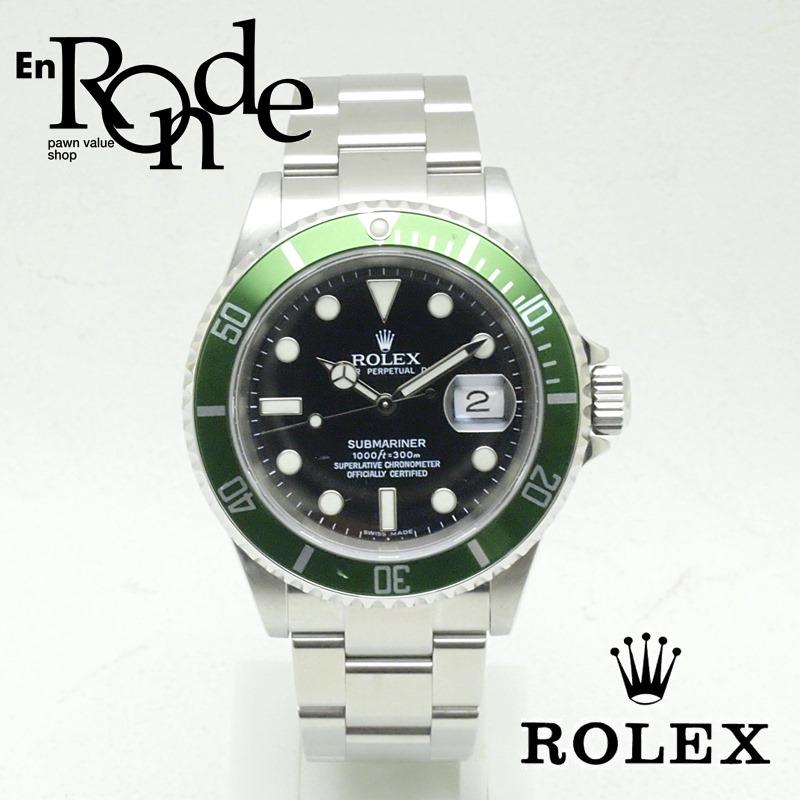 ロレックス ROLEX メンズ腕時計 サブマリーナ 16610LV SS(ステンレス) ブラック文字盤 中古