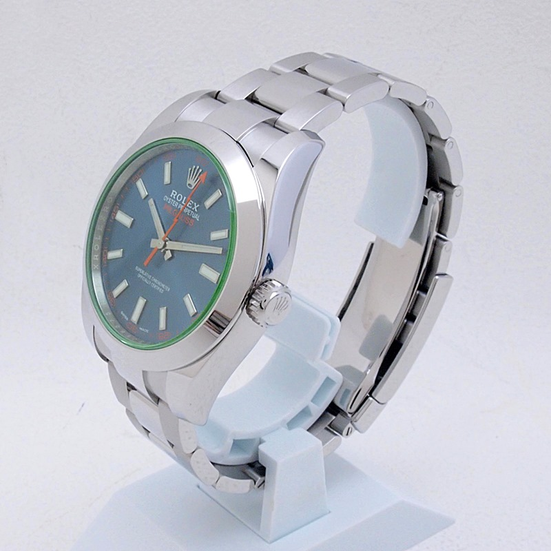 http://ロレックス%20ROLEX%20メンズ腕時計%20ミルガウス%20116400GV%20SS(ステンレス)%20ブルー文字盤%20中古